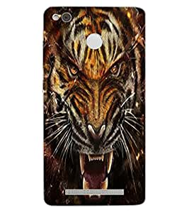 ColourCraft Roaring Tiger Design Back Case Cover for XIAOMI REDMI 3X