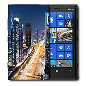 Snoogg Whole City View Printed Protective Phone Back Case Cover For Nokia Lumia 920