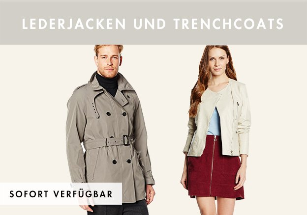 Live & Love, ADD & mehr: Lederjacken und Trenchcoats bis zu -78%!