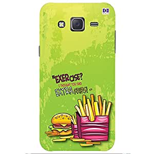 Extra Fries - Mobile Back Case Cover For Samsung Galaxy J7 (2015)