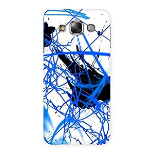 Enticing Blue Splasher Print Back Case Cover for Galaxy E7