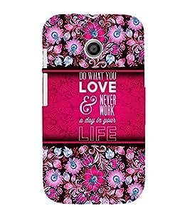 Love Message Design 3D Hard Polycarbonate Designer Back Case Cover for Motorola Moto E XT1021 :: Motorola Moto E (1st Gen)