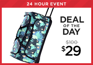 Deal of the Day: Olympia Rolling Duffel at $29!