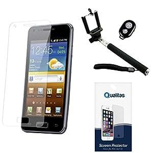 Qualitas Anti-Glare Anti-Scratch Anti-Fingerprint Matte Screen Protector for Micromax CANVAS Unite 2 A106 + Handheld Selfie Monopod with Bluetooth Clicker