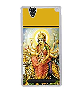 Maa Durga 2D Hard Polycarbonate Designer Back Case Cover for Sony Xperia T2 Ultra :: Sony Xperia T2 Ultra Dual SIM D5322 :: Sony Xperia T2 Ultra XM50h