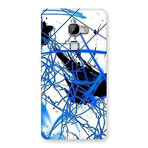 Blue Splasher Print Back Case Cover for LeTv Le Max