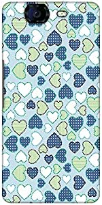 Snoogg Crystals Colourful Designer Protective Back Case Cover For Micromax Canvas Knight A350