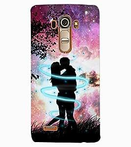 ColourCraft Loving Couple Design Back Case Cover for LG G4