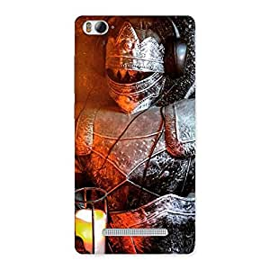 Delighted Warrior Knight Print Back Case Cover for Xiaomi Mi4i
