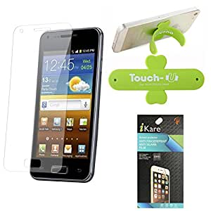 iKare Pack of 6 Anti-Glare Anti-Scratch Anti-Fingerprint Matte Screen Protector for Panasonic Eluga Icon + Touch U Mobile Stand