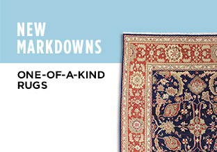 New Markdowns: One-of-a-Kind Rugs!