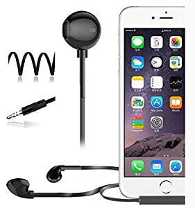 ECellStreet Premium Earphones / Headphones with Noise Cancellation With Remote Control And Stereo Mic for Lava V5 - Black
