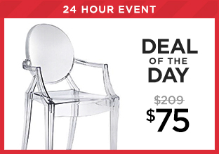 Deal of the Day: The Ghost Chair at $75!