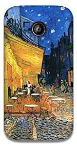 The Racoon Lean Cafe at night - Van Gogh hard plastic printed back case / cover for Motorola Moto E2