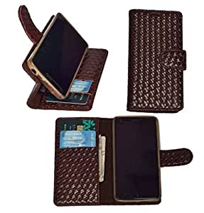 R&A Pu Leather Wallet Flip Case Cover With Card & ID Slots & Magnetic Closure For Xiaomi Redmi Note 4G