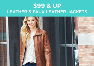 $99 & Up: Leather & Faux Leather Jackets