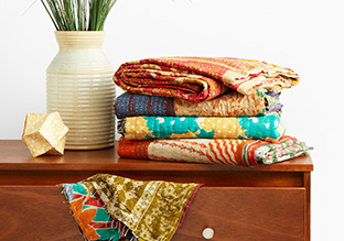 One- of-a -Kind Kantha Quilts!