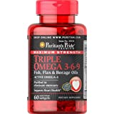 Puritan's Pride Maximum Strength Triple Omega 3-6-9 Fish, Flax & Borage Oils-60 Softgels