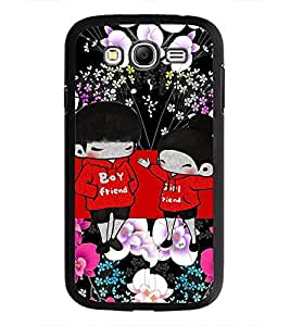 PrintDhaba Cartoon Couple D-3608 Back Case Cover for SAMSUNG GALAXY GRAND NEO (Multi-Coloured)
