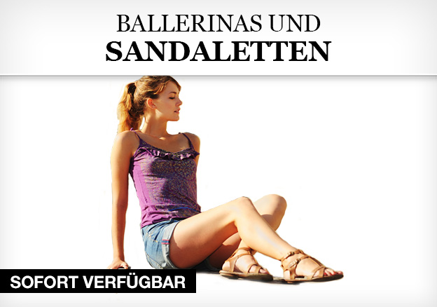 Ballerinas und Sandaletten