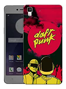 "Humor Gang Daft Punk Neon Red Printed Designer Mobile Back Cover For ""Oppo R7"" (3D, Matte, Premium Quality Snap On Case)"