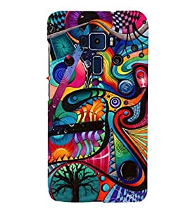 ABSTRACT COMBINATION OF MULTIPLE PATTERNS 3D Hard Polycarbonate Designer Back Case Cover for Asus Zenfone 3 ZE552KL::Asus Zenfone 3 (5.5 INCHES)