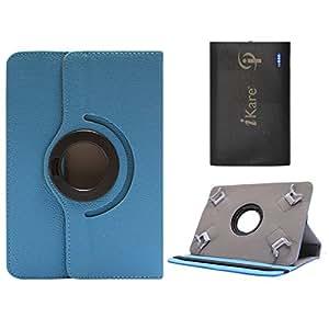 DMG Portable Foldable Stand Holder Cover Case for Raiikar Ocea2 (Blue) + 6600 mAh Three USB Port Power Bank