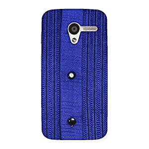 Stylish Royal Blue Sweat Print Back Case Cover for Moto X