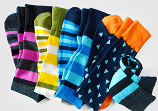 COLORE 0026 STAMPA : PATTERNED SOCKS!