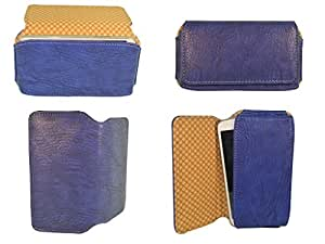 Branded Premium Hand Pouch For Intex Aqua Style Mini - Blue - HDPBL47#0703