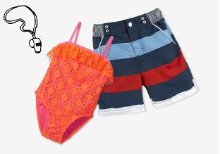 Costumi da bagno per bambini : Happy Camper!