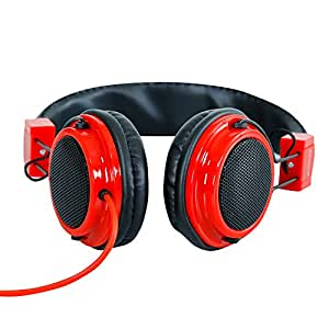 Headphone For XOLO Omega 5.5 Headphone With Mic Compatible (RED)