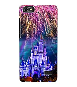 ColourCraft Fire Works Castle Design Back Case Cover for HUAWEI G PLAY MINI