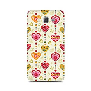 Mobicture Hearts Premium Printed Case For Samsung J1