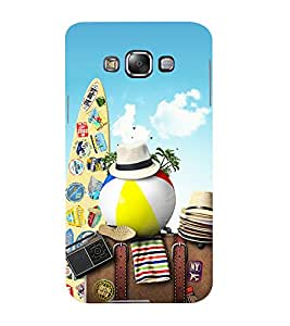 Mental Mind 3D Printed Plastic Back Cover For Samsung Galaxy E7- 3DSAME7-G1002