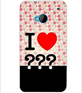 PrintDhaba Quote D-3852 Back Case Cover for HTC ONE M7 (Multi-Coloured)