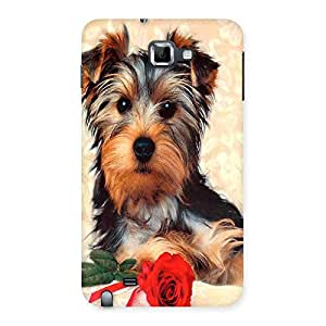 Ajay Enterprises Dog And Rose Back Case Cover for Galaxy Note