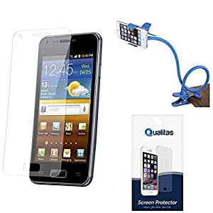 Qualitas Pack of 2 Matte Screen Protector for Samsung Galaxy Grand 2 + Flexible Sturdy Long Stand