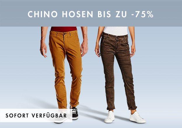 Chino Hosen bis zu -75%