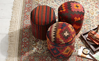 Momeni: Unique Rugs & Ottomans!