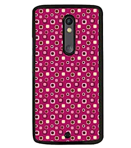 Printvisa Pink Dotted Pattern Back Case Cover for Motorola Moto X Play
