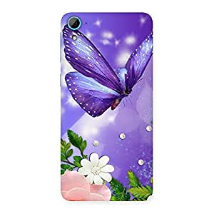 Stylish Voilate Butterfly Back Case Cover for HTC Desire 826