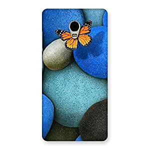 Pebbls and Butterfly Multicolor Back Case Cover for Lenovo Vibe P1