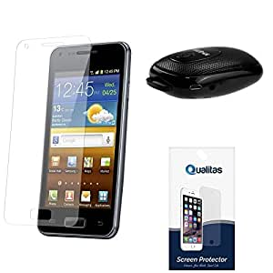 Qualitas Ultra Clear Pack of 3 Anti-Glare Anti-Scratch Anti-Fingerprint Screen Protector for Micromax Canvas Fire 2 A104 + Wireless Bluetooth Speaker with Self Timer Selfie Clicker Button
