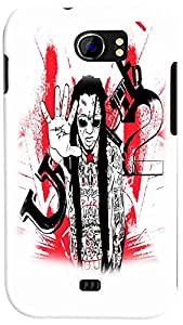 PrintVisa 3D-MMXC2A110-D7886 Music Rock star Rap Back Cover for Micromax Canvas 2 A110