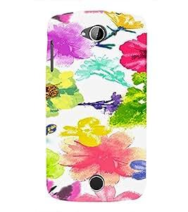 PrintVisa ACERZ530-Corporate Print & Pattern Modern Art Flower Art Plastic Back Cover (Multicolor)