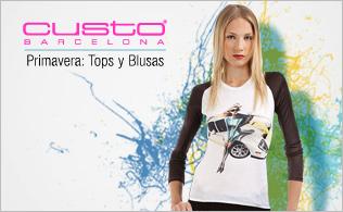 Custo Barcelona-Primavera: Tops, Blusas y Camisetas!