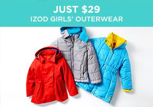 Just $29: IZOD Girls' Outerwear
