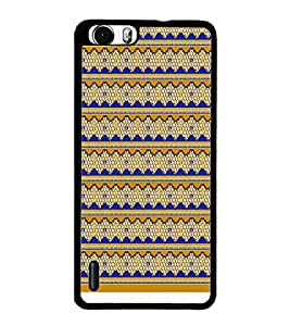 PrintDhaba Yellow Key D-1002 Back Case Cover for HUAWEI HONOR 6 PLUS (Multi-Coloured)