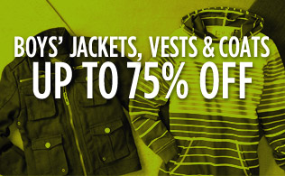 Boys' Jackets, Vests & Coats: Up to 75% Off